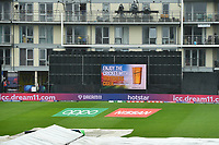 Cricket - 2019 ICC Cricket World Cup - Group Stage: Bangladesh vs. Sri Lanka<br /> <br /> Advertising on display as the game is cancelled, at County Ground, Bristol.<br /> <br /> COLORSPORT/ASHLEY WESTERN