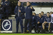 Millwall Manager Neil Harris gestures during the The FA Cup fourth round match between Millwall and Everton at The Den, London, England on 26 January 2019.