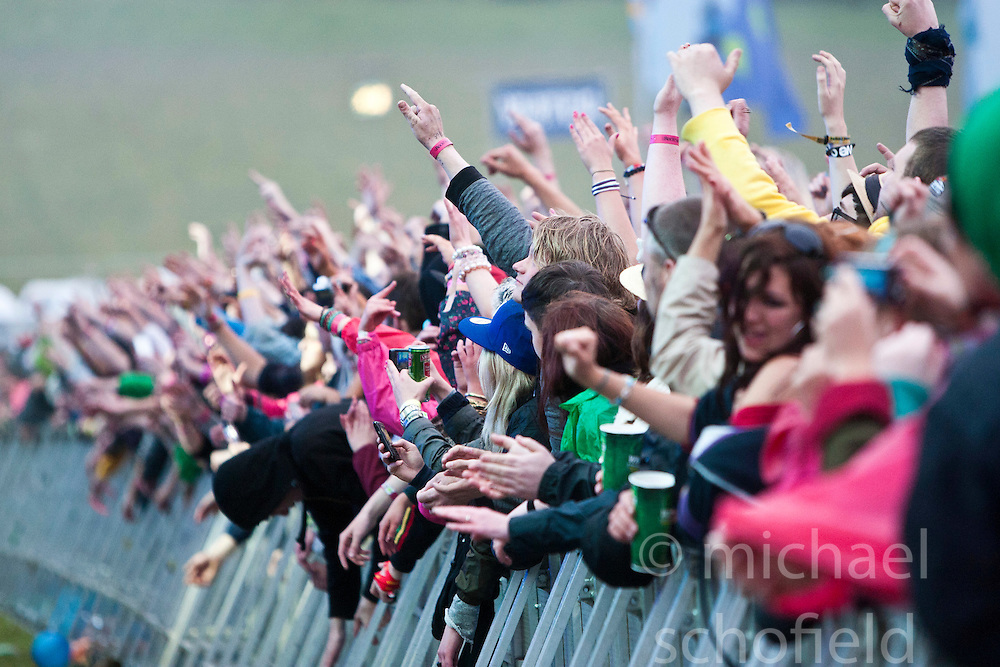 The end of the Magnetic Man set on the Main Stage..Rockness, Saturday, 11th June 2011..RockNess 2011, the annual music festival which takes place in Scotland at Clune Farm, Dores, on the banks of Loch Ness near Inverness..Pic ©2011 Michael Schofield. All Rights Reserved..