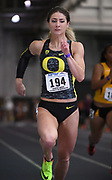 Feb 24, 2017; Seattle, WA, USA; Hannah Cunliffe of Oregon wins women's 60m heat in 7.19 for the top time during the MPSF Indoor Championships at the Dempsey Indoor.