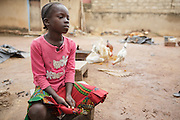 Girl in the town of Katiola, Cote d'Ivoire on Friday July 12, 2013.