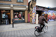 The trendy Brick Lane area of Shoreditch, London. UK..Photo@Steve Forrest/Workers' Photos