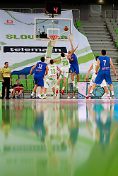 Domen Lorbek of Slovenia during friendly basketball match between National teams of Slovenia and Bosnia i Hercegovina of Adecco Ex-Yu Cup 2012 as part of exhibition games 2012, on August 3rd, 2012, in Arena Stozice, Ljubljana, Slovenia. (Photo by Urban Urbanc / Sportida)