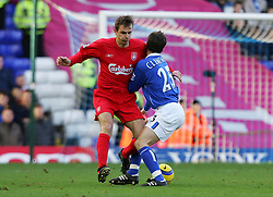 BIRMINGHAM, ENGLAND - SATURDAY FEBRUARY 12th 2005: Liverpool's Dietmar Hamann and Birmingham's Stephen Clemence during the Premiership match at St. Andrews (Pic by David Rawcliffe/Propaganda)
