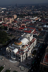 Aerial view of Bellas Artes in Mexico City