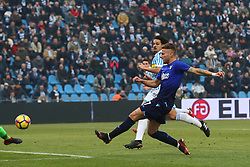 "Foto Filippo Rubin<br /> 06/01/2018 Ferrara (Italia)<br /> Sport Calcio<br /> Spal - Lazio - Campionato di calcio Serie A 2017/2018 - Stadio ""Paolo Mazza""<br /> Nella foto: PRIMO GOAL CIRO IMMOBILE (LAZIO)<br /> <br /> Photo by Filippo Rubin<br /> January 06, 2018 Ferrara (Italy)<br /> Sport Soccer<br /> Spal vs Lazio - Italian Football Championship League A 2017/2018 - ""Paolo Mazza"" Stadium <br /> In the pic: FIRST GOAL CIRO IMMOBILE (LAZIO)"