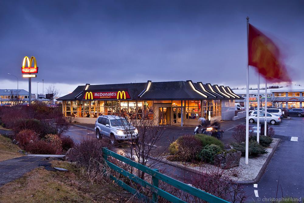 Macdonald's restaurant in Reykjavík, which closed 1st of November 2009.