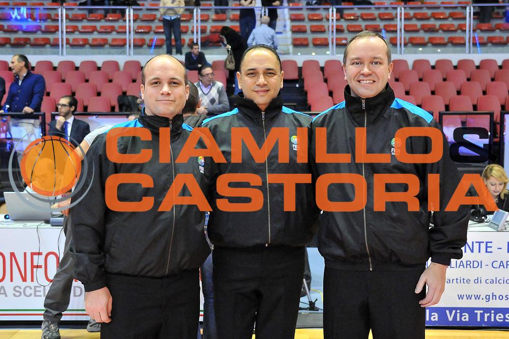 DESCRIZIONE : Biella Fiba Europe EuroChallenge 2014-2015 Bonprix Biella PO Antwerp Giants<br /> GIOCATORE : Arbitri Referees<br /> CATEGORIA : Arbitro Referee<br /> SQUADRA : Arbitro Referee<br /> EVENTO : Fiba Europe EuroChallenge 2014-2015<br /> GARA : Bonprix Biella PO Antwerp Giants<br /> DATA : 12/11/2014<br /> SPORT : Pallacanestro <br /> AUTORE : Agenzia Ciamillo-Castoria/S.Ceretti<br /> Galleria : Fiba Europe EuroChallenge 2014-2015<br /> Fotonotizia : Biella Fiba Europe EuroChallenge 2014-2015 Men Bonprix Biella PO Antwerp Giants<br /> Predefinita :