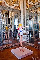 Palace of Versailles. Figurine of Miss Ko2 by Japanese Manga artist Takashi Murakami on display at Versailles.