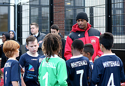 Mark Little of Bristol City hand out certificates - Mandatory by-line: Robbie Stephenson/JMP - 23/11/2016 - FOOTBALL - South Bristol Sports Centre - Bristol, England - BCCT EFL Kids Cup