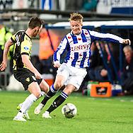Voetbal Heerenveen Eredivisie 2014-2015 SC Heerenveen - Vitesse: L-R Sam Larsson (SC Heerenveen)