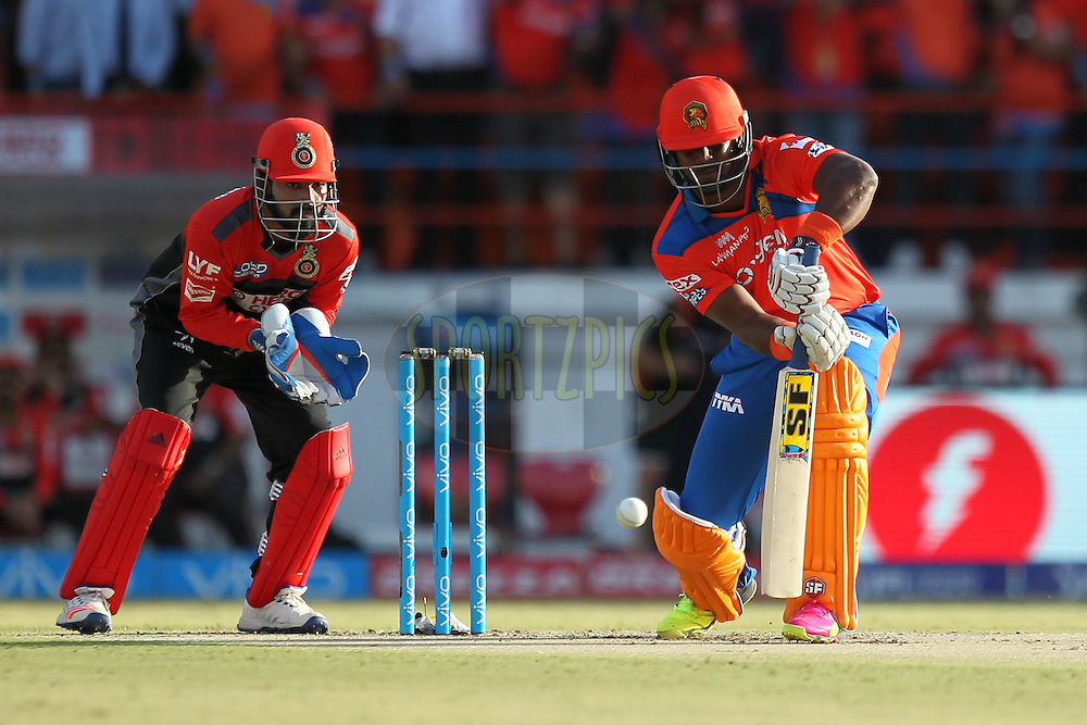 Dwayne Smith of Gujrat Lions plays a shot during match 19 of the Vivo IPL 2016 ( Indian Premier League ) between the Gujarat Lions and the Royal Challengers Bangalore held at Saurashtra Cricket Association Stadium, Rajkot, India on the 24th April 2016Photo by Prashant Bhoot  / IPL/ SPORTZPICS