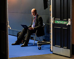 (c) Licensed to London News Pictures. <br /> 03/10/2017<br /> Manchester, UK<br /> <br /> A man works on his laptop at the Conservative Party Conference held at the Manchester Central Convention Complex.<br /> <br /> Photo Credit: Ian Forsyth/LNP