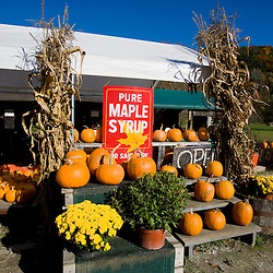 Farmstand at Hunter's Acres Farm in Claremont, New Hampshire.