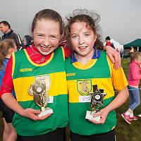 Girls U12 winner Laura Quinlivan and second place Shauna O'Gorman both from Kilmihil