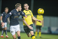 Falkirk's Luke Leahy and Livingston Gary Glen. Falkirk 2 v 0 Livingston, Scottish Championship game played 29/12/2015 at The Falkirk Stadium.