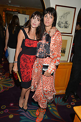 Left to right, ANNABELLE NEILSON and JULIETTE LARTHE at a dinner to celebrate the launch of Genetic - Liberty Ross hosted by Liberty Ross and Ali Fatourechi at Annabel's, 44 Berkeley Square, London on 3rd September 2014.