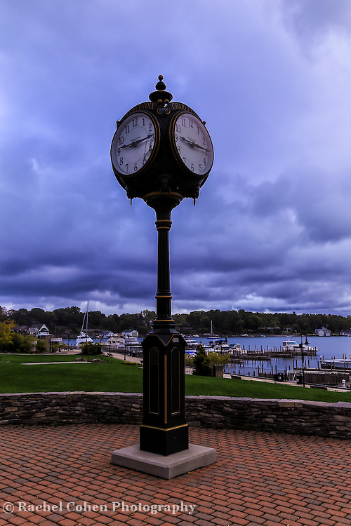 &quot;Charlevoix Town Clock&quot;<br /> <br /> Beautiful town clock in Charlevoix Michigan in the town center over looking the marina!
