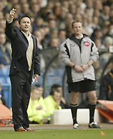 Photo: Aidan Ellis.<br /> Leeds United v Luton Town. Coca Cola Championship. 10/03/2007.<br /> Leeds manager Dennis Wise gives out orders to his team