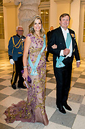 26-5-2018 COPENHAGEN - King Willem-Alexander and Queen maxima Galanight at the Crown Prince Frederik as he celebrates his 50th birthday during a Gala dinner at Christiansborg Castle in Copenhagen, Denmark, 26 May 2018. Crown Prince Frederik turns 50.  Copenhagen, on May 26, 2018, on the occasion of Crown Prince Frederik of Denmark 50th birthday  ROBIN UTRECHT