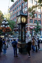 Gastown steam clock, Vancouver, British Columbia, Canada