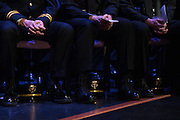 OUPD badge pinning ceremony in Baker Theater on February 9, 2015. Photo by Lauren Pond