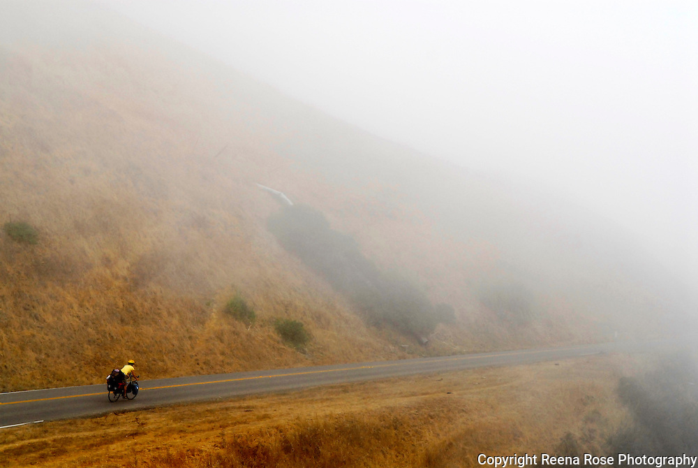 Bicyclist in Fog<br /> California