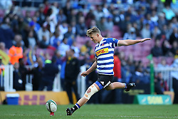 Robert du Preez of Western Province kicks a conversion during the Currie Cup Premier Division match between the DHL Western Province and the Sharks held at the DHL Newlands Rugby Stadium in Cape Town, South Africa on the 3rd September  2016<br /> <br /> Photo by: Shaun Roy / RealTime Images