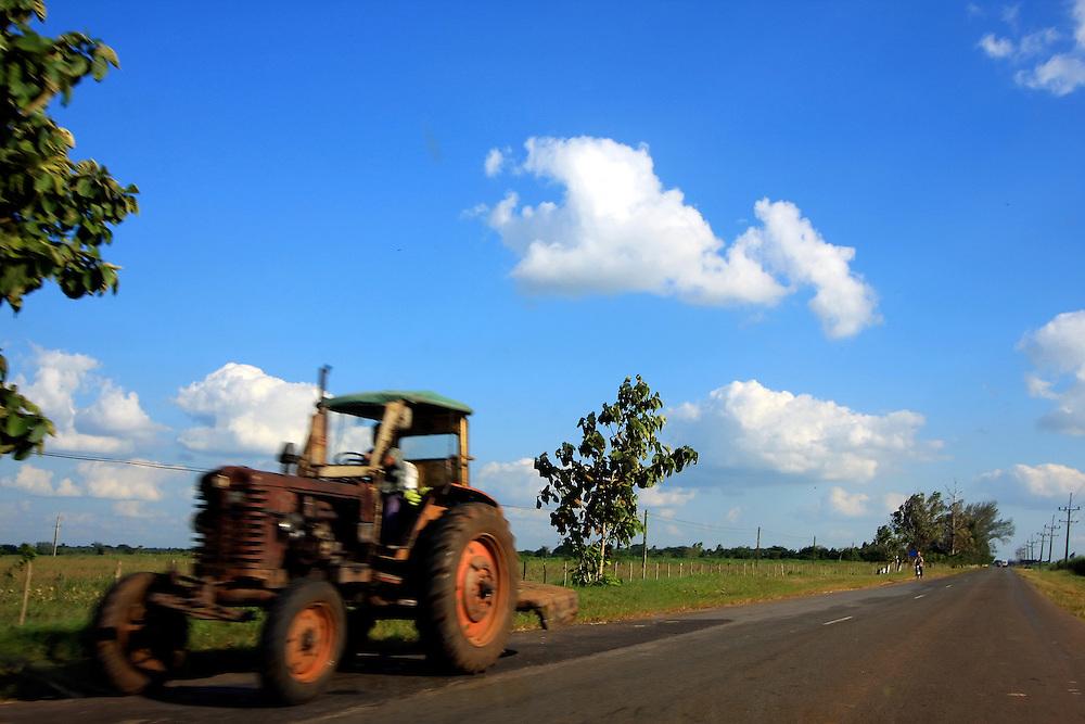 Tractor in Real Campina, Cienfuegos Province, Cuba.