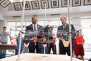 18208Student Reasearch & Creativity Activity Fair Spring 2007...The UFO Project Electrical Enginering..President McDavis & Interim Vp For Research, James Rankin