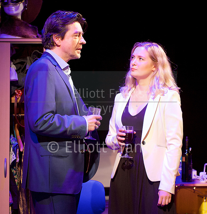 Touch <br /> by Vicky Jones <br /> at Soho Theatre, London, Great Britain <br /> press photocall 11th July 2017 <br /> <br /> <br /> <br /> <br /> James Clyde as Miles <br /> <br /> <br /> Amy Morgan as Dee <br /> <br /> <br /> <br /> <br /> Photograph by Elliott Franks <br /> Image licensed to Elliott Franks Photography Services