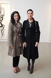 Left to right, FATIMA BHUTTO and ALLEGRA DONN at a party to celebrate the publication of Allegra Hick's book 'An Eye For Design' held at he Timothy Taylor Gallery, Carlos Place, London on 23rd November 2010.