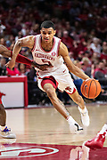 FAYETTEVILLE, AR - MARCH 9:  Jalen Harris #5 of the Arkansas Razorbacks drives to the basket during a game against the Alabama Crimson Tide at Bud Walton Arena on March 9, 2019 in Fayetteville, Arkansas.  The Razorbacks defeated the Crimson Tide 82-70.  (Photo by Wesley Hitt/Getty Images) *** Local Caption *** Jalen Harris