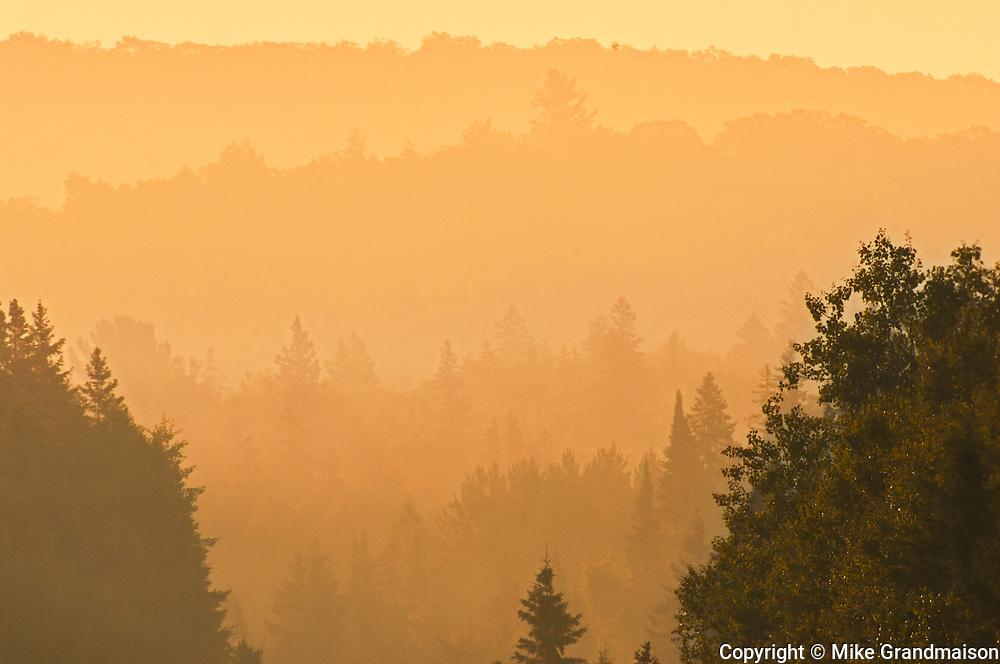 Algonquin Hills at sunrise, Algonquin Provincial Park, Ontario, Canada
