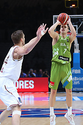 Klemen Prepelic of Slovenia during basketball match between Latvia and Slovenia at Day 8 in Round of 16 of FIBA Europe Eurobasket 2015, on September 12, 2015, in LOSC Lile stadium, Croatia. Photo by Marko Metlas / MN PRESS PHOTO / SPORTIDA