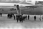 President John F. Kennedy arrives at Dublin Airport.<br /> 26.06.1963