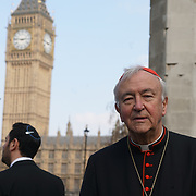 London,England,uk, 24th March 2017, Speaker Vincent Nichols of the Roman Catholic Church vigil for the victims of the terror attacks at Westminster Abbey,London,UK. by See Li