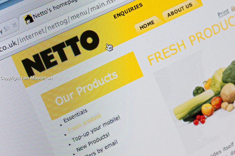 Detail of screenshot from website of Netto home shopping and delivery service