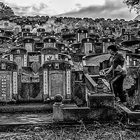 Chinese during the Qing Mong or Tomb Sweeping Day in Kuala Lumpur, Malaysia.