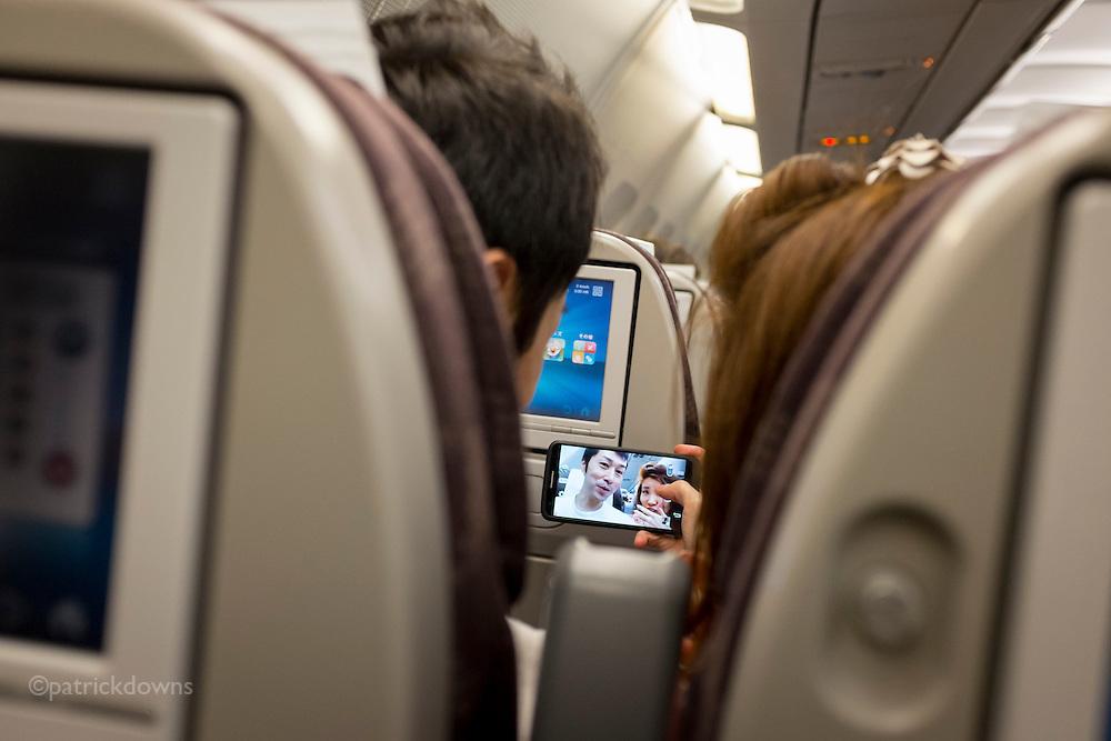 Inflight selfie, Tokyo to Hawaii.