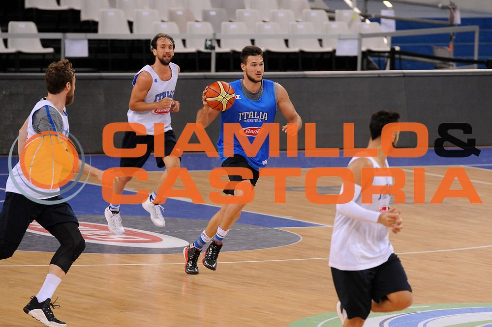 DESCRIZIONE: Torino FIBA Olympic Qualifying Tournament Allenamento<br /> GIOCATORE: Danilo Gallinari<br /> CATEGORIA: Nazionale Italiana Italia Maschile Senior  Allenamento<br /> GARA: FIBA Olympic Qualifying Tournament Allenamento<br /> DATA: 07/07/2016<br /> AUTORE: Agenzia Ciamillo-Castoria