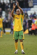 Leicester - Saturday, February 16th, 2008: Dion Dublin of Norwich City applauds his side's fans after the Coca Cola Champrionship match at the Walkers Stadium, Leicester. (Pic by Mark Chapman/Focus Images)