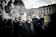 ROMA. L'ONOREVOLE DARIO FRANCESCHINI DEL PARTITO DEMOCRATICO IN PIAZZA DEL POPOLO IN OCCASIONE DELLA MANIFESTAZIONE CONTRO IL DECRETO SALVA LISTE DEL GOVERNO BERLUSCONI PER LE ELEZIONI REGIONALI 2010