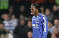Photo: Lee Earle.<br /> Chelsea v Reading. The Barclays Premiership. 26/12/2006. Chelsea's Didier Drogba looks dejected.