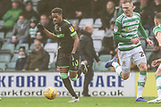 Forest Green Rovers Reece Brown(10) on the ball during the EFL Sky Bet League 2 match between Yeovil Town and Forest Green Rovers at Huish Park, Yeovil, England on 8 December 2018.