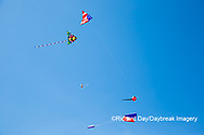 63495-02711 Kites flying at Flagler Beach Flagler Beach, FL