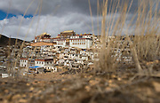February 2007 - Shangarila, China - Dominating the hillside, the Tibetan Buddhist monastery of Songzhalin remains one of the most important monasteries for Tibetan Buddhists in Yunnan Province.<br /> Photo credit: Luke Duggleby