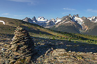 Cairn on Rocky Point Ridge, Bugaboo Provincial Park British Columbia