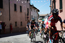 Jelena Eric (SRB) in the bunch at Giro Rosa 2018 - Stage 2, a 120.4 km road race starting and finishing in Ovada, Italy on July 7, 2018. Photo by Sean Robinson/velofocus.com