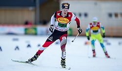 20.12.2014, Nordische Arena, Ramsau, AUT, FIS Nordische Kombination Weltcup, Staffel Langlauf, im Bild Fabian Steindl (AUT) // during Cross Country of FIS Nordic Combined World Cup, at the Nordic Arena in Ramsau, Austria on 2014/12/20. EXPA Pictures © 2014, EXPA/ JFK